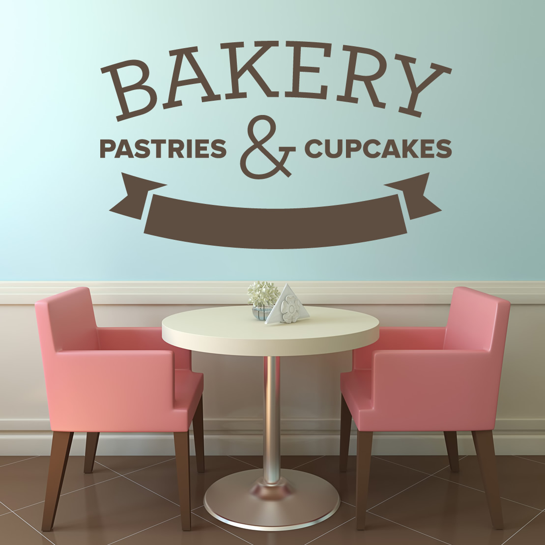 Bakery Patries And Cupcakes Cafe Kitchen Wall Art Decal