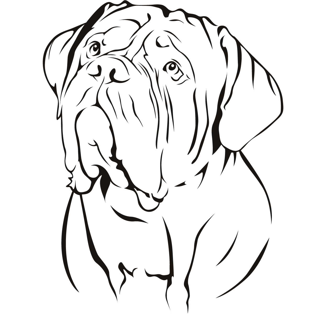 Small Wall Stickers Uk Dog De Bordeaux Dogs Animal Wall Art Sticker Wall Decal