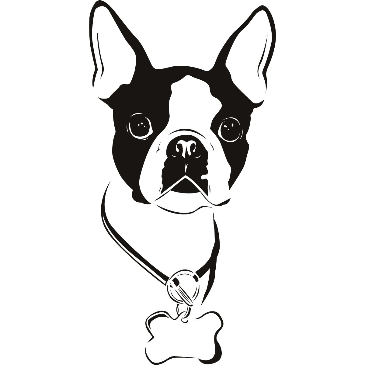 Boston Terrier Dogs Animals Wall Art Stickers Decal Transfers