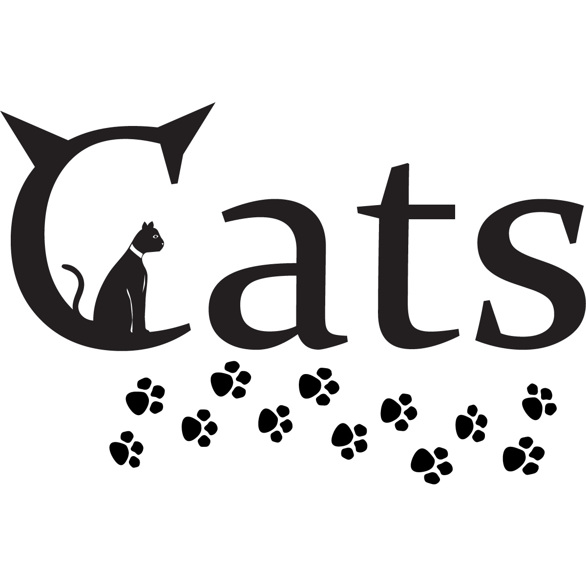 Details about Cats Paw Prints Animals Wall Art Stickers Wall Decal ...