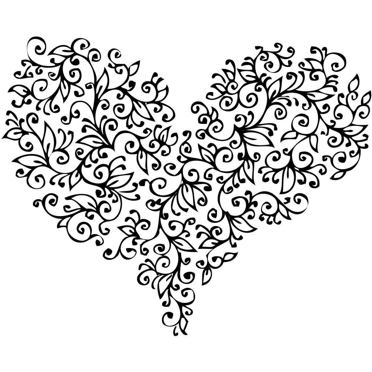 Line Art Love Heart : Love heart tattoo black and white wallpapers broken