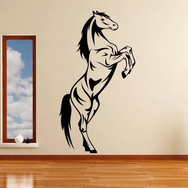 Horse rearing animals wall art stickers decal transfers ebay for Horse wall decals