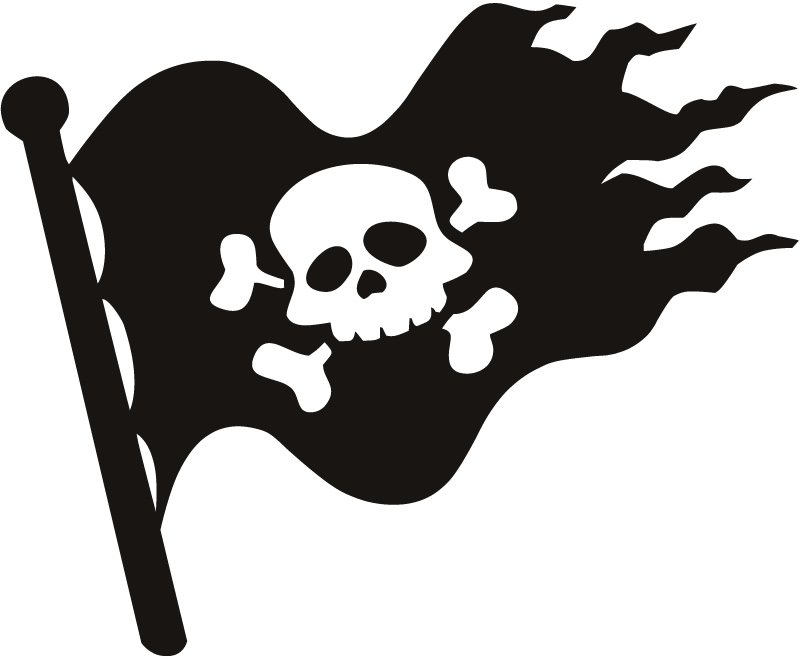 Pirate Flag Jolly Roger Kids Nursery Wall Sticker Wall Art Decal    Jolly Roger Kids