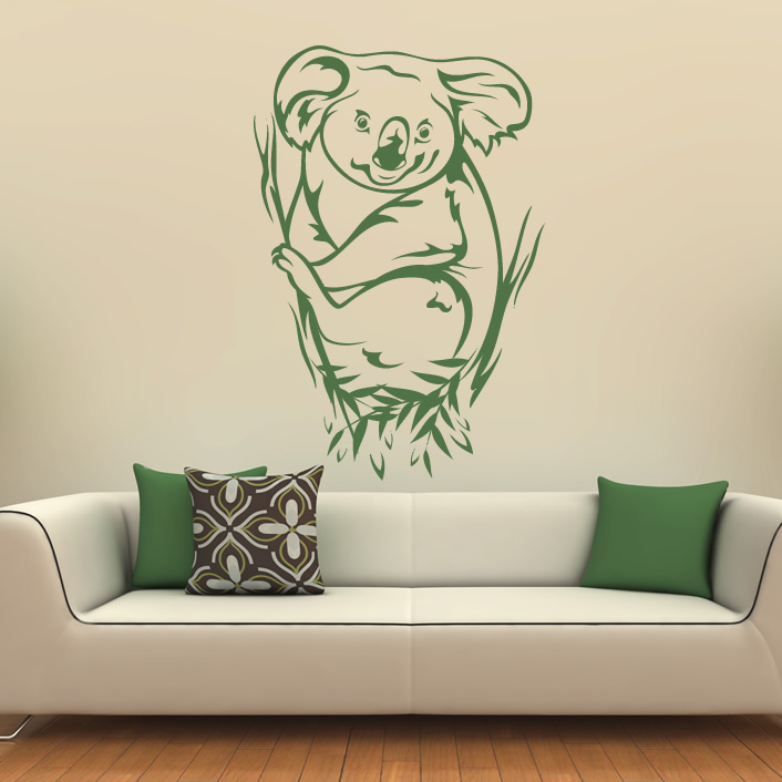 koala bear animals australia wall art stickers decal