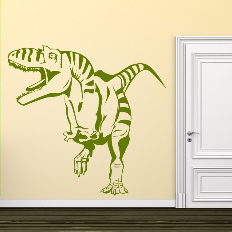 open mouth t rex dinosaurs wall art sticker wall decal