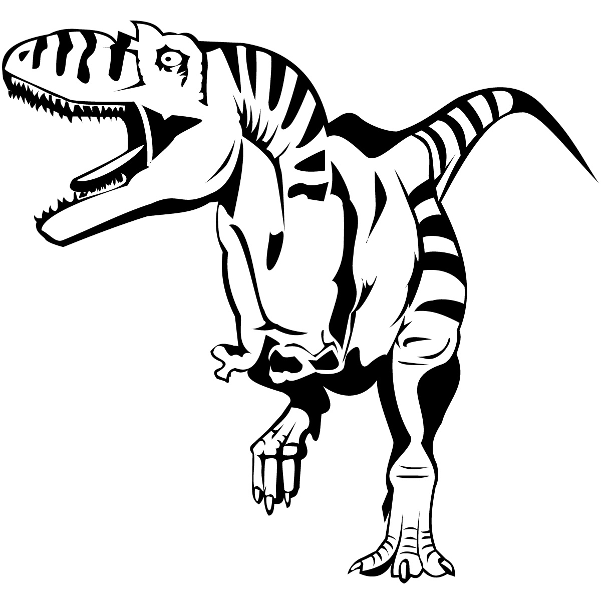 Free Coloring Pages Of T Rex Head