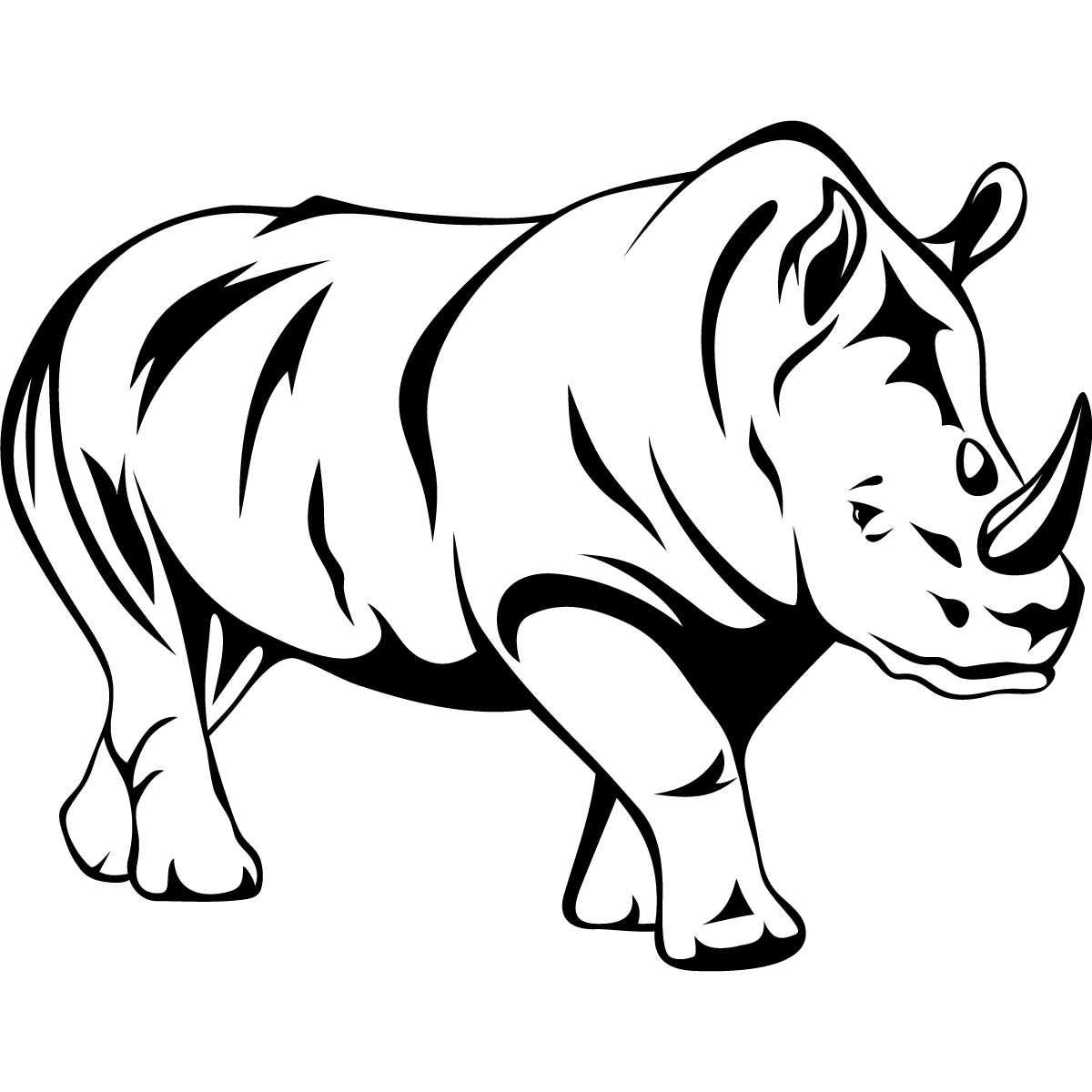 Out Line Drawing Of Animals : Outline pictures of wild animals