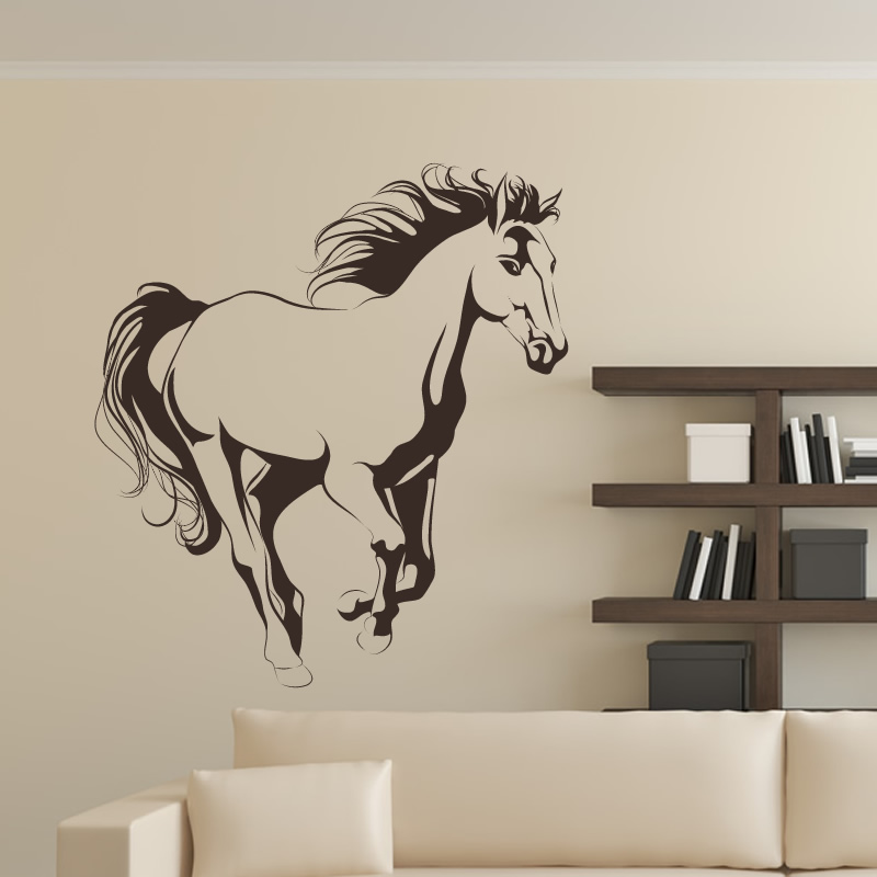 running horse animals wall art sticker decal transfers ebay pics photos running horse animals wall art sticker decal