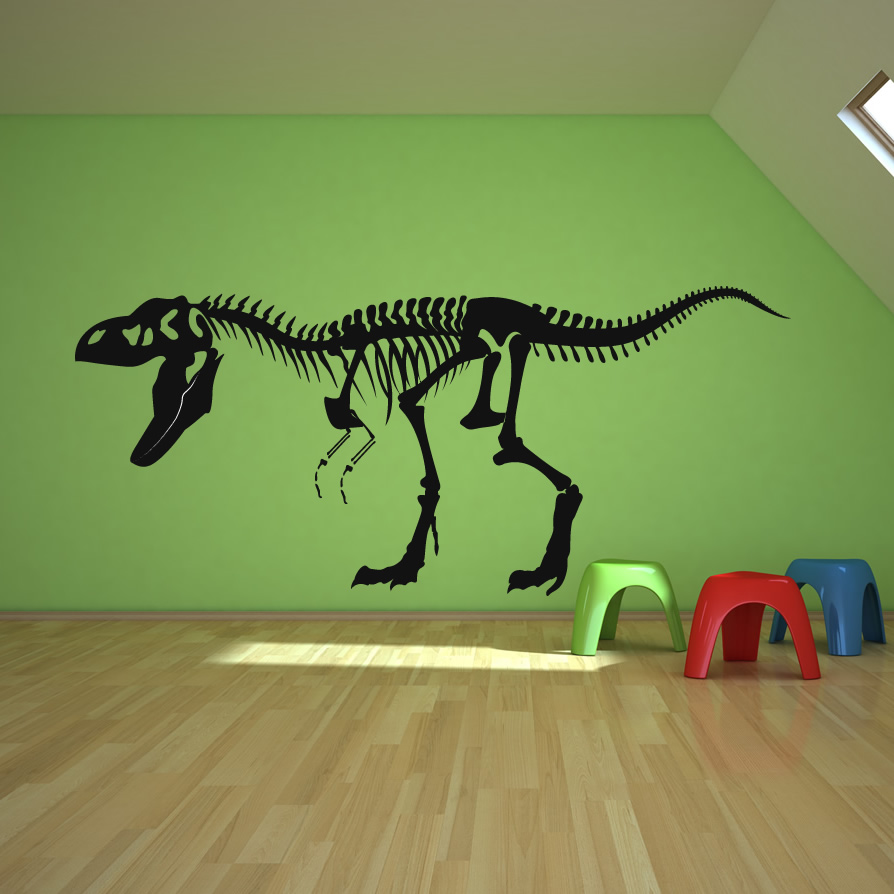 skeleton t rex dinosaurs wall decals wall art stickers ForDinosaur Wall Mural Uk