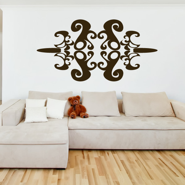 abstract symetrical print wall art sticker wall decal