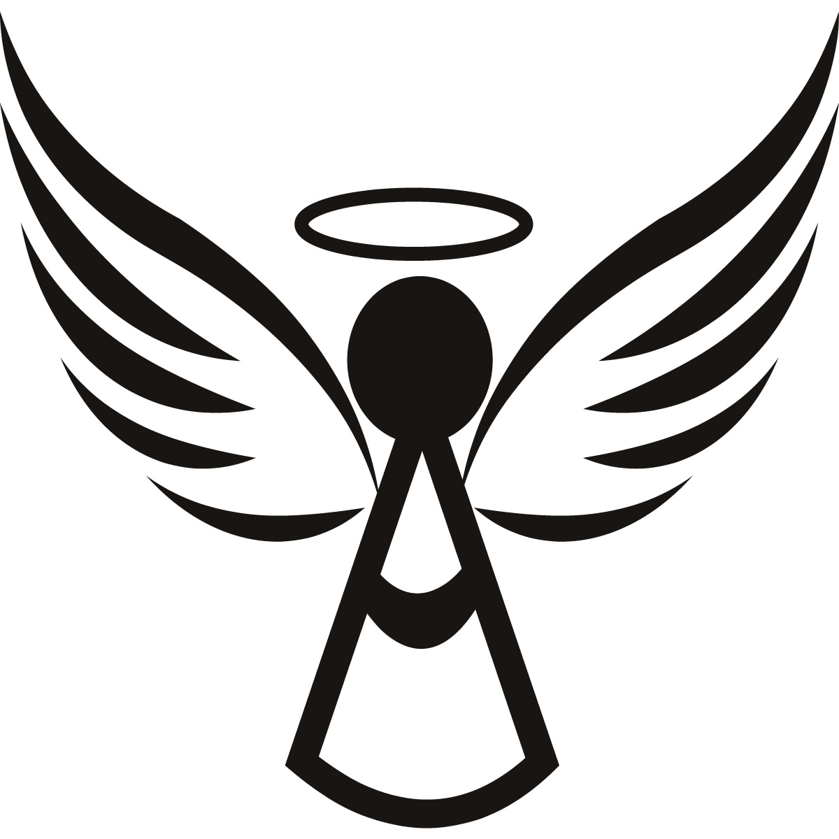 free black angel clipart - photo #27