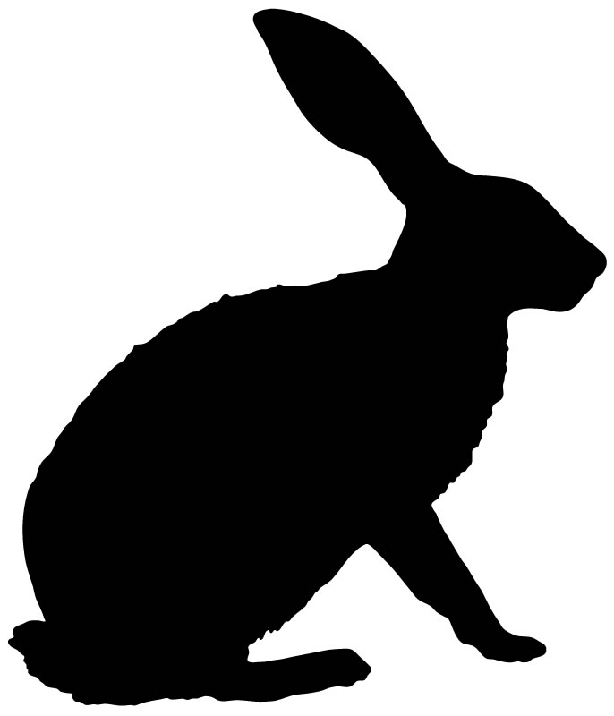 clipart image bunny silhouette - photo #46