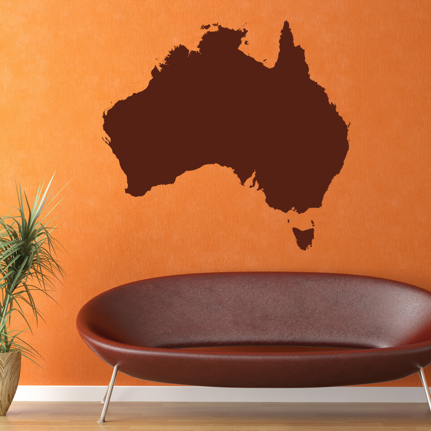 australia map around the world wall art decal wall sticker