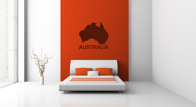australia map silhouette wall sticker wall art decal