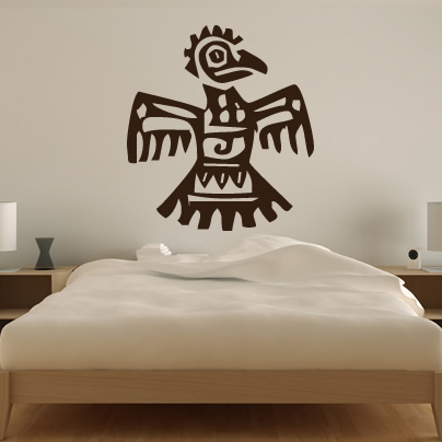 tribal stickers art wall Animals Wall Art Transfers Aztec Stickers Tribal Decals Parrot Wall