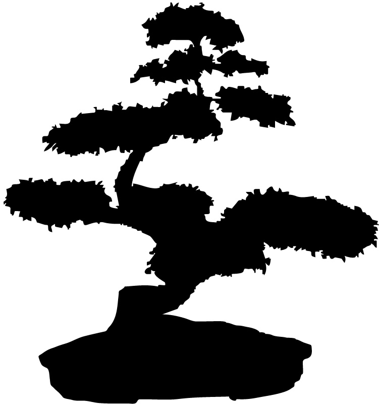 Decorative Bonsai Tree Trees Wall Stickers Wall Art Decal ...