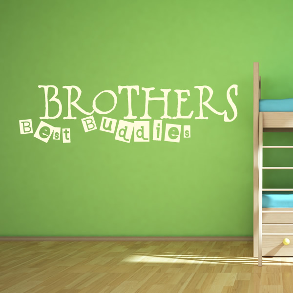 Quotes Wall Art Decals : Brothers best buddies family wall quotes art decals