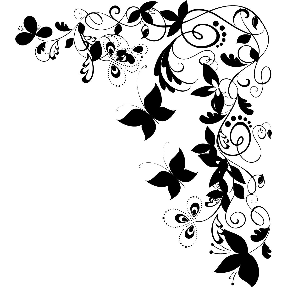 Very Best Butterfly Corner Clip Art 1200 X 225 KB Jpeg