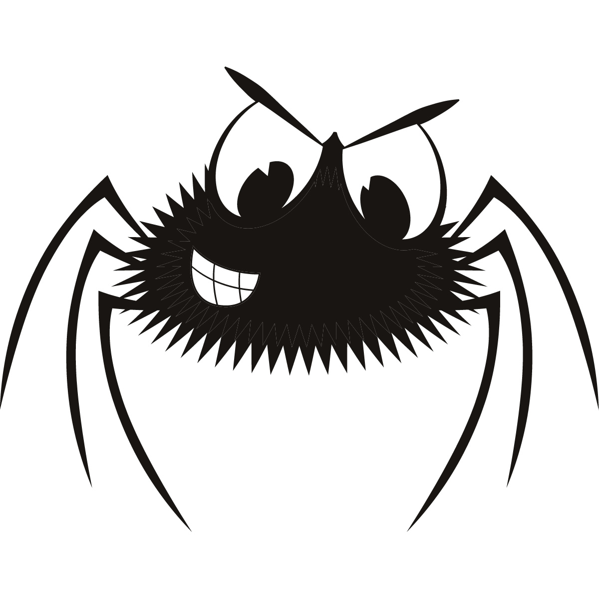 Cartoon Spider Halloween Wall Art Sticker Wall Decal ...