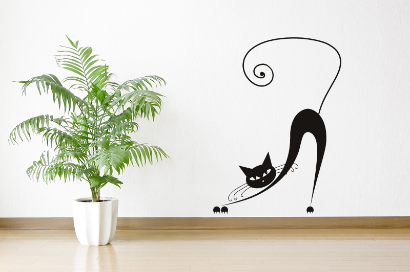bending siamese cat wall sticker animals cats and dogs wall art designs kitchen wall art lovely cats cartoon