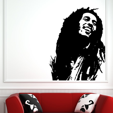 bob marley famous icon wall stickers wall art decal transfers. Black Bedroom Furniture Sets. Home Design Ideas