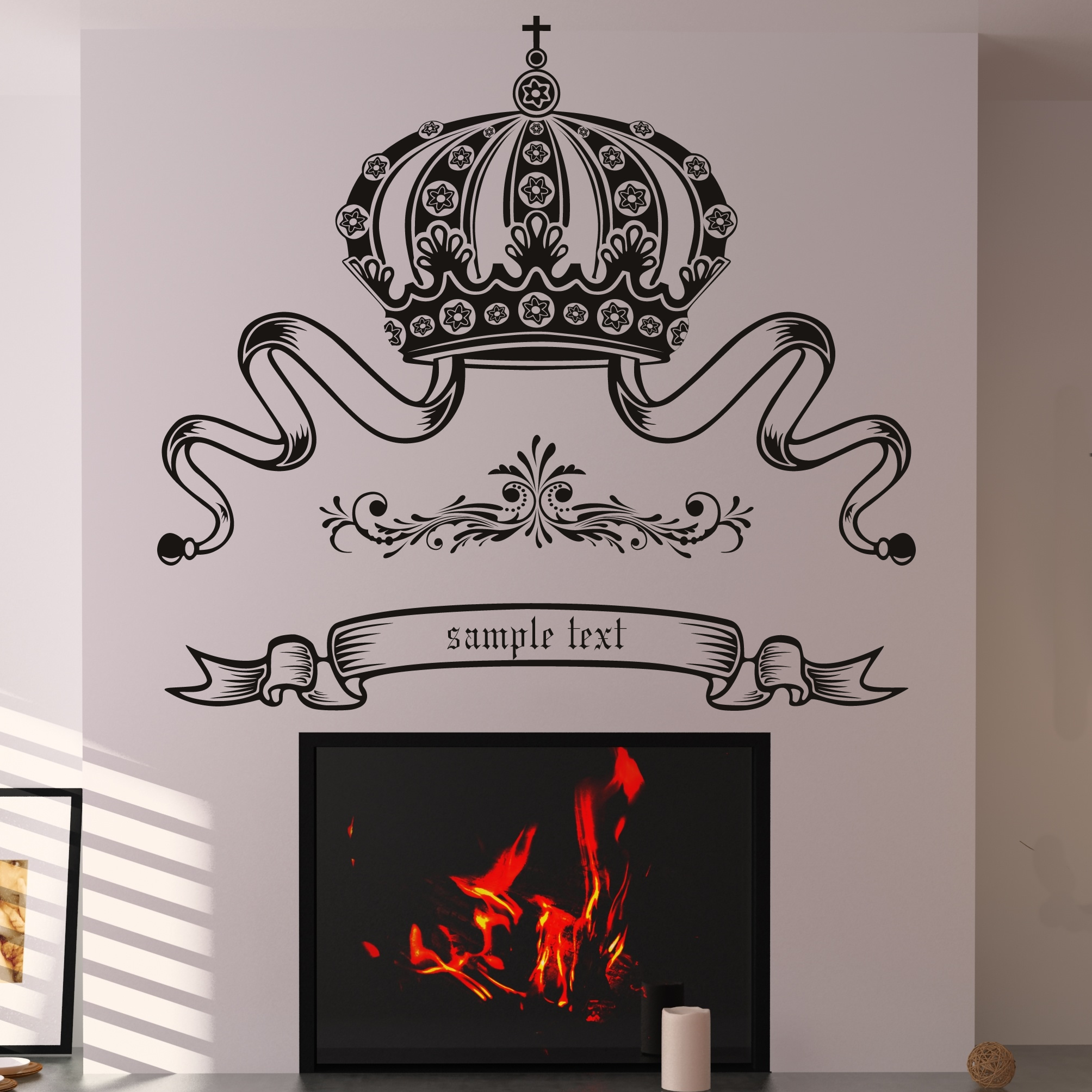 crown custom badge wall decal wall art stickers transfers