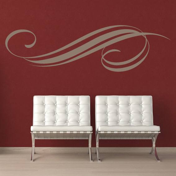 Swirl Decorative Wall Design Patterns Wall Stickers Wall