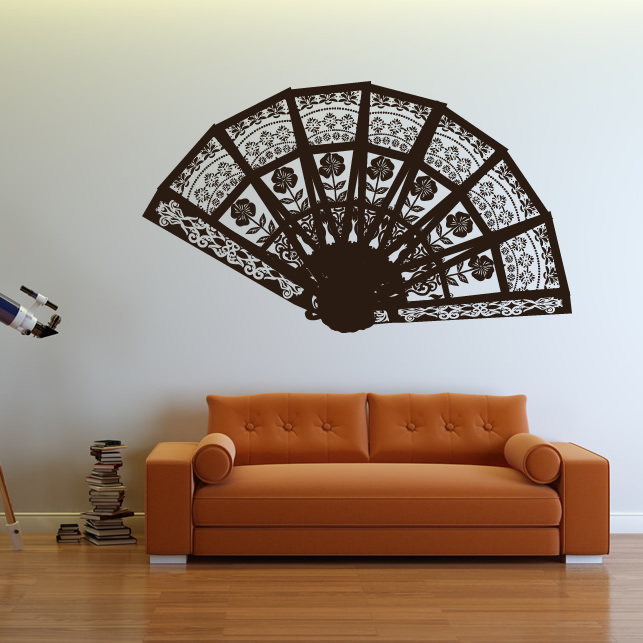 Decorative Fan Abstract Patterns Wall Art Sticker