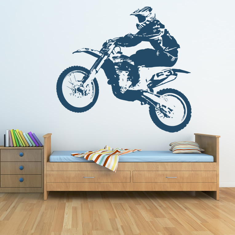 Dirt bike transport sports and hobbies wall art sticker for Dirt bike wall mural