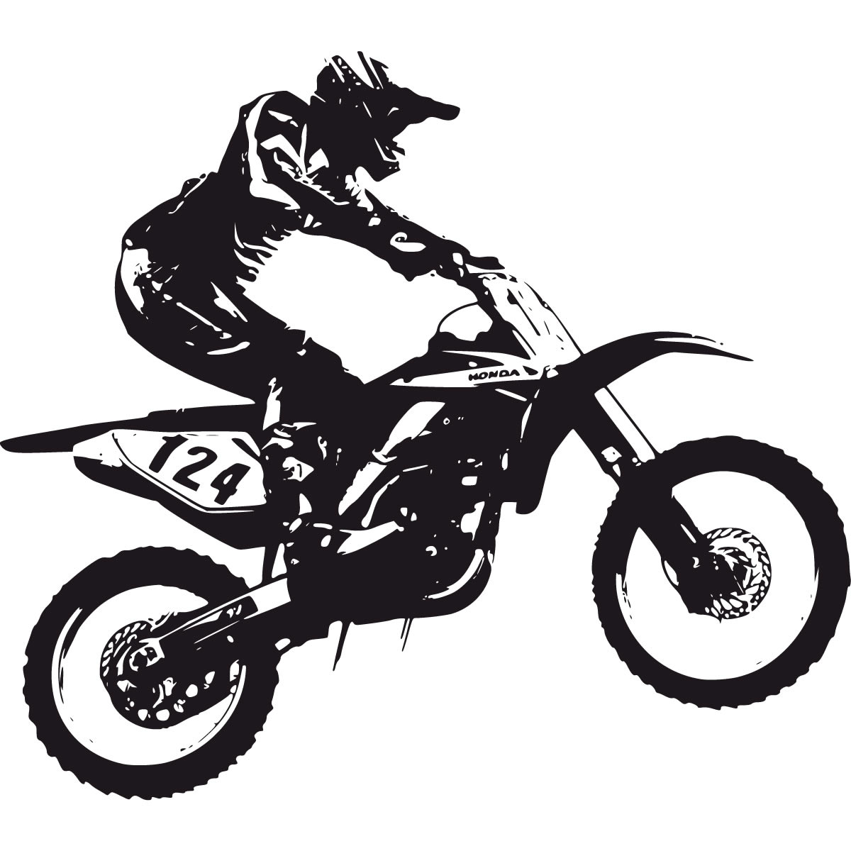Dirt Bike Clipart Black And White Dirt Bike Clip Art Black And