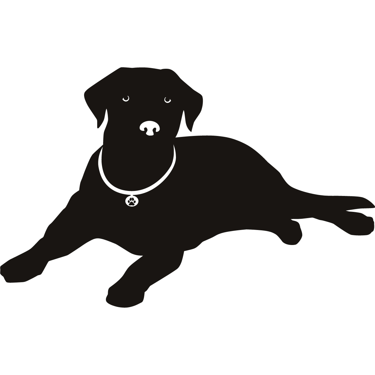 Labrador Nose Silhouette Dogs Wall Art Stickers Decal Transfers ...