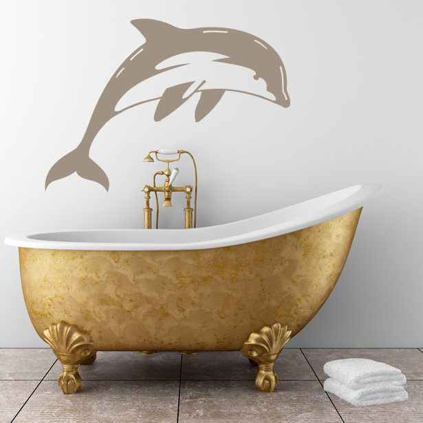 diving dolphin bathroom wall stickers wall art decal dolphin wall sticker window dolphin wall by