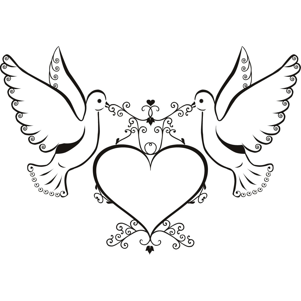 Pink Dove Clip Art for Pinterest