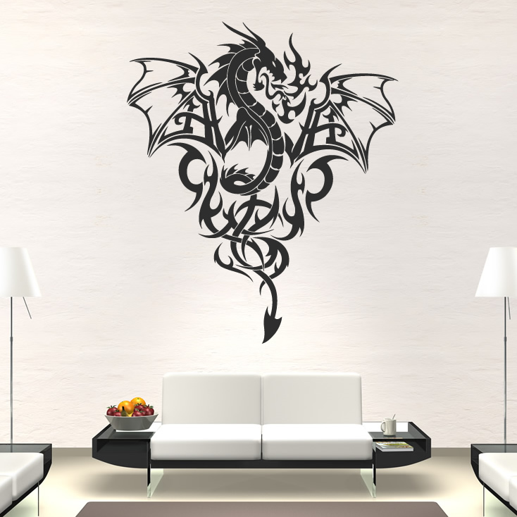 Details about Dragon Print Wings Wall Art Sticker Wall Decall ...