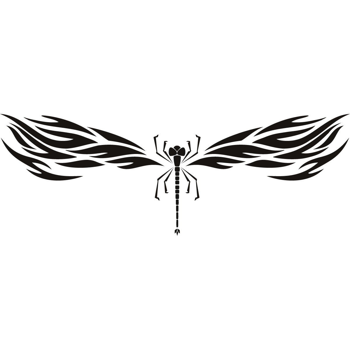 Dragonfly decorative wall art stickers wall decal for Dragonfly mural