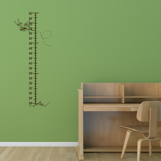 dragonfly height chart kids nursery wall decal wall art kids dinosaur height chart wall sticker by the binary box