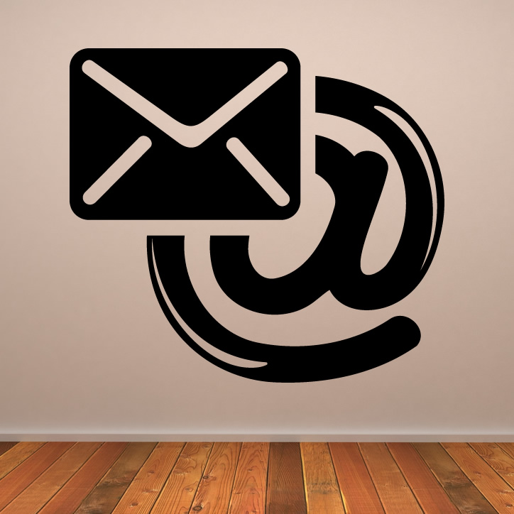 email icon in the office wall art stickers transfers ebay. Black Bedroom Furniture Sets. Home Design Ideas