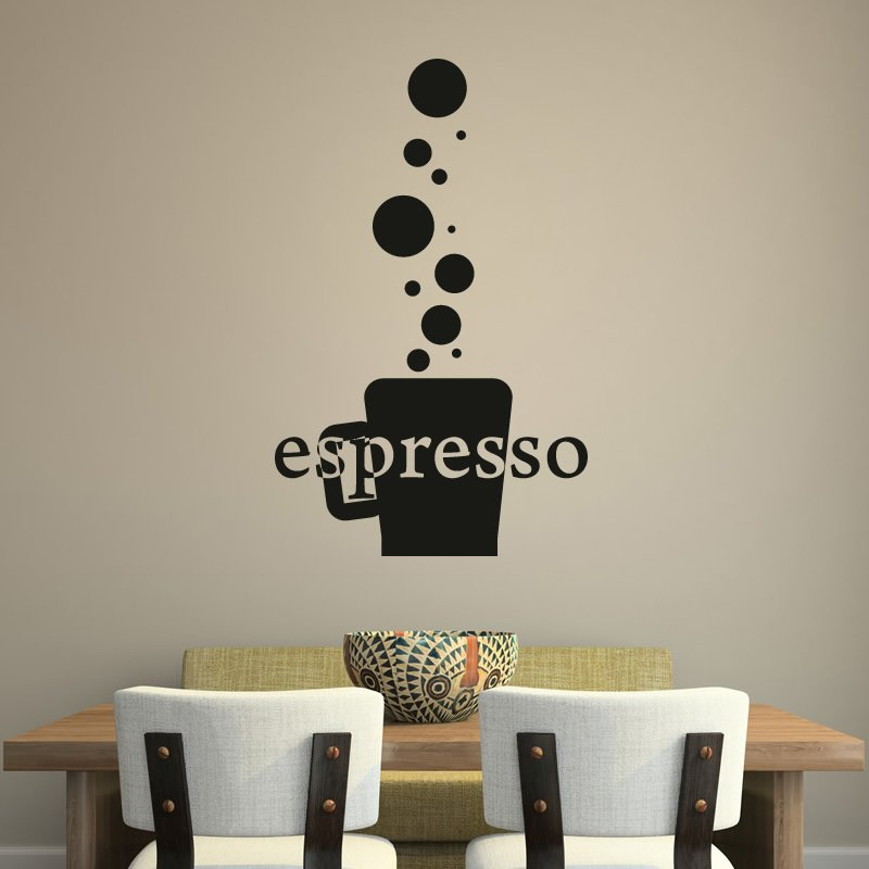 Espresso Cup Coffee Cafe Kitchen Wall Art Stickers Wall Decal