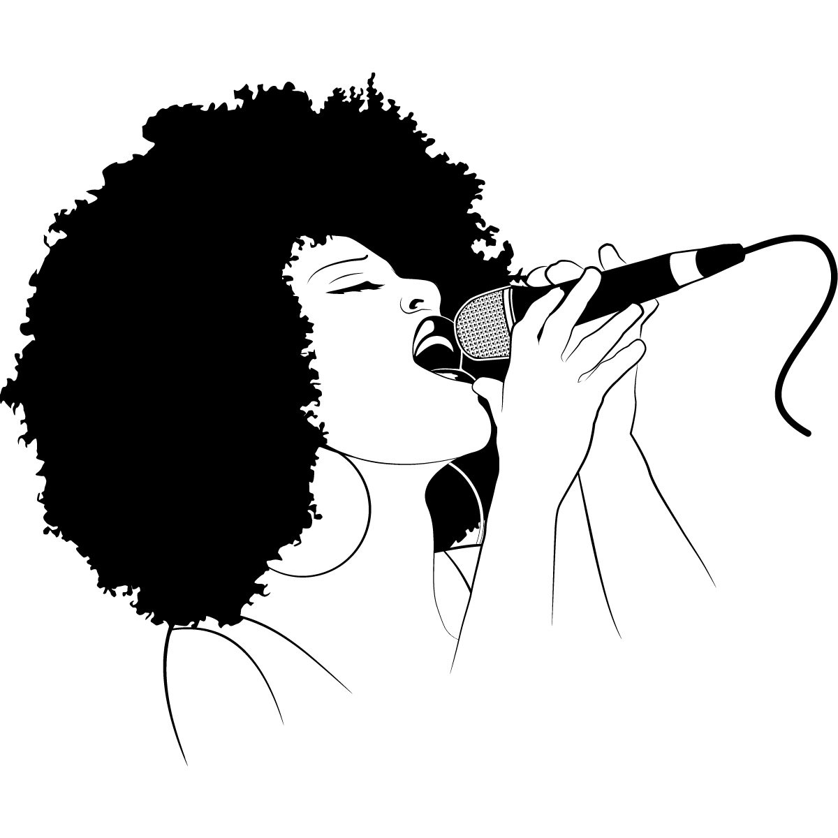 Female Singer Silhouette Clip Art