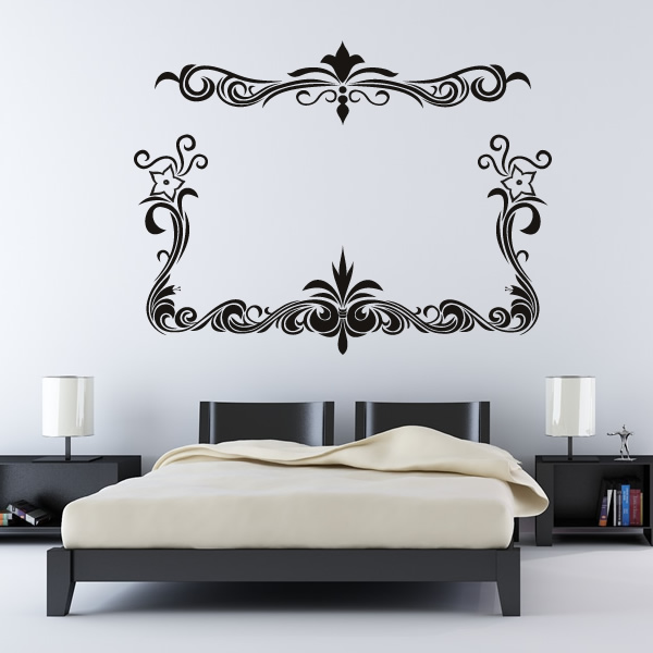 floral border flowers wall decal wall art stickers flower power wall sticker border stickers for wall com
