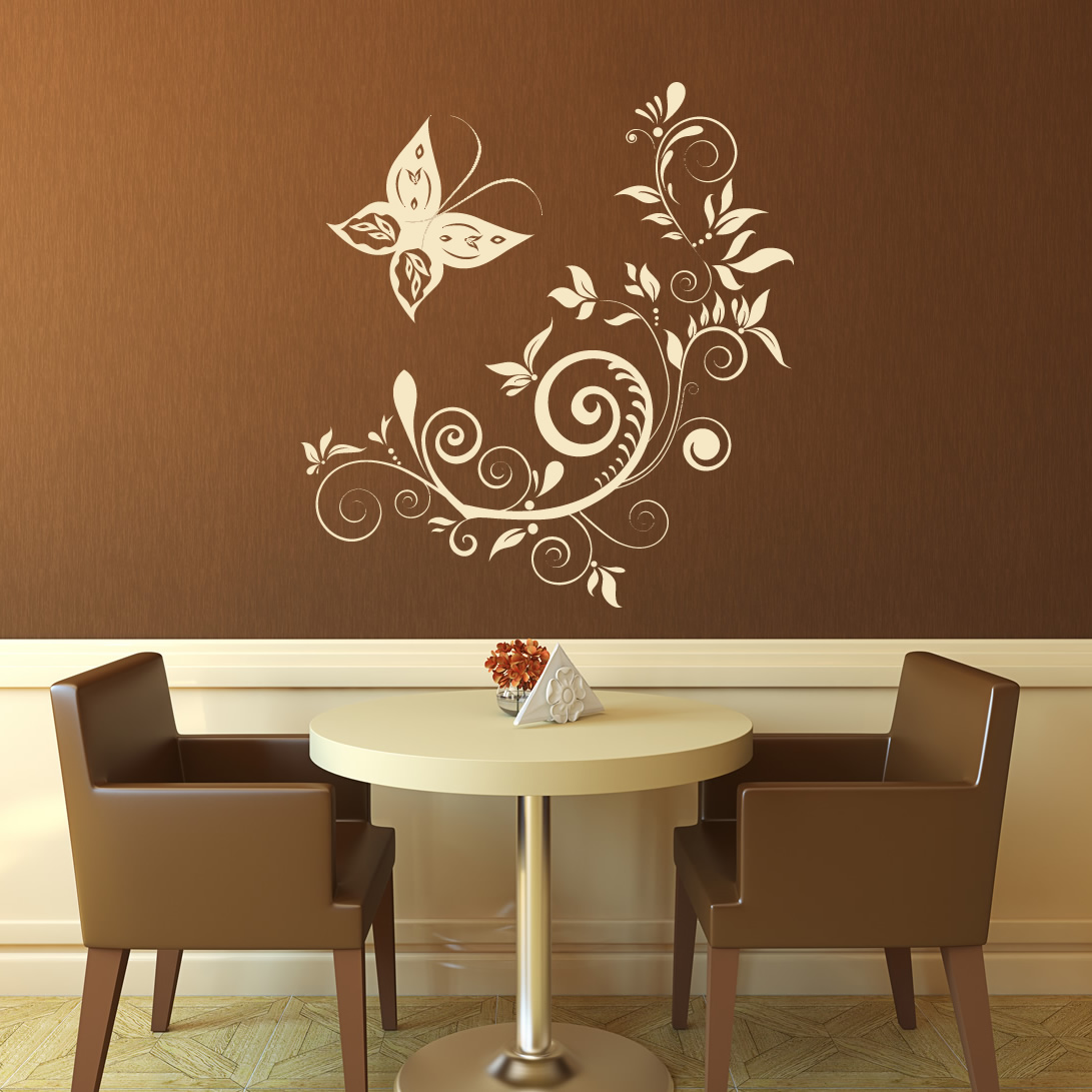 Wall Stickers Decoration Artistic Floral Decorative Wall Art Stickers Wall Art Decal Transfers EBay