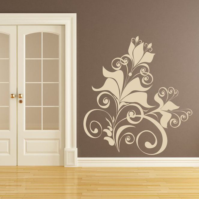 Floral Design Wall Art Sticker Wall Decal Transfers eBay