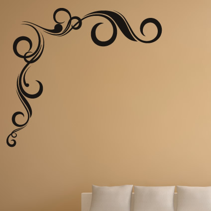 twisted wall corner wall border wall stickers flowers wall scroll floral wall sticker border blue brown stickers