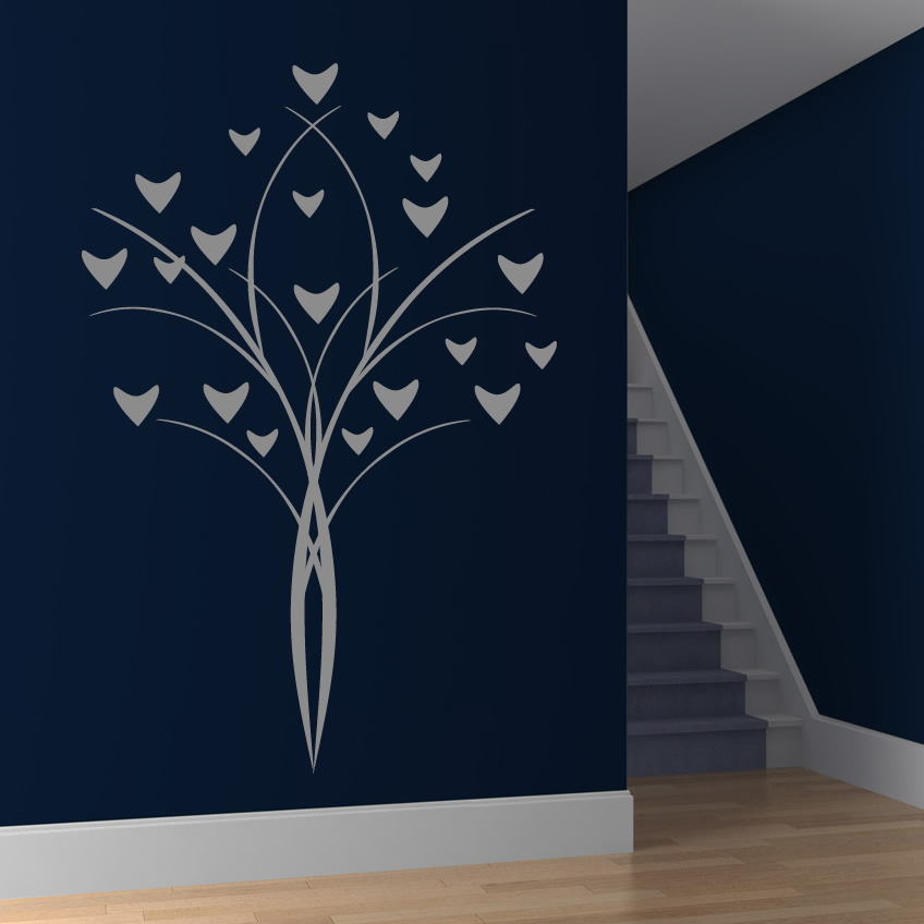 Flower deco wall art decals wall stickers transfers ebay for Sticker deco