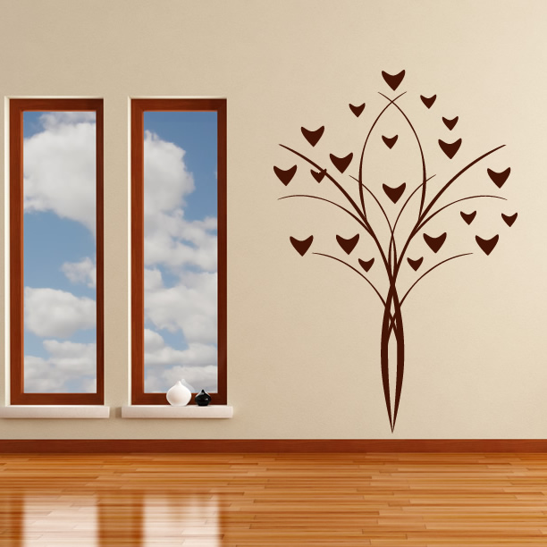 flower deco wall art decals wall stickers transfers ebay 72 quot tall large tree wall decals removable birds cage vinyl