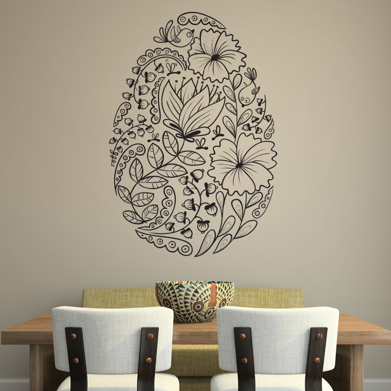 Wall Stickers Decoration Artistic Easter Seasonal Wall Art Stickers Wall Art Decal Transfers EBay