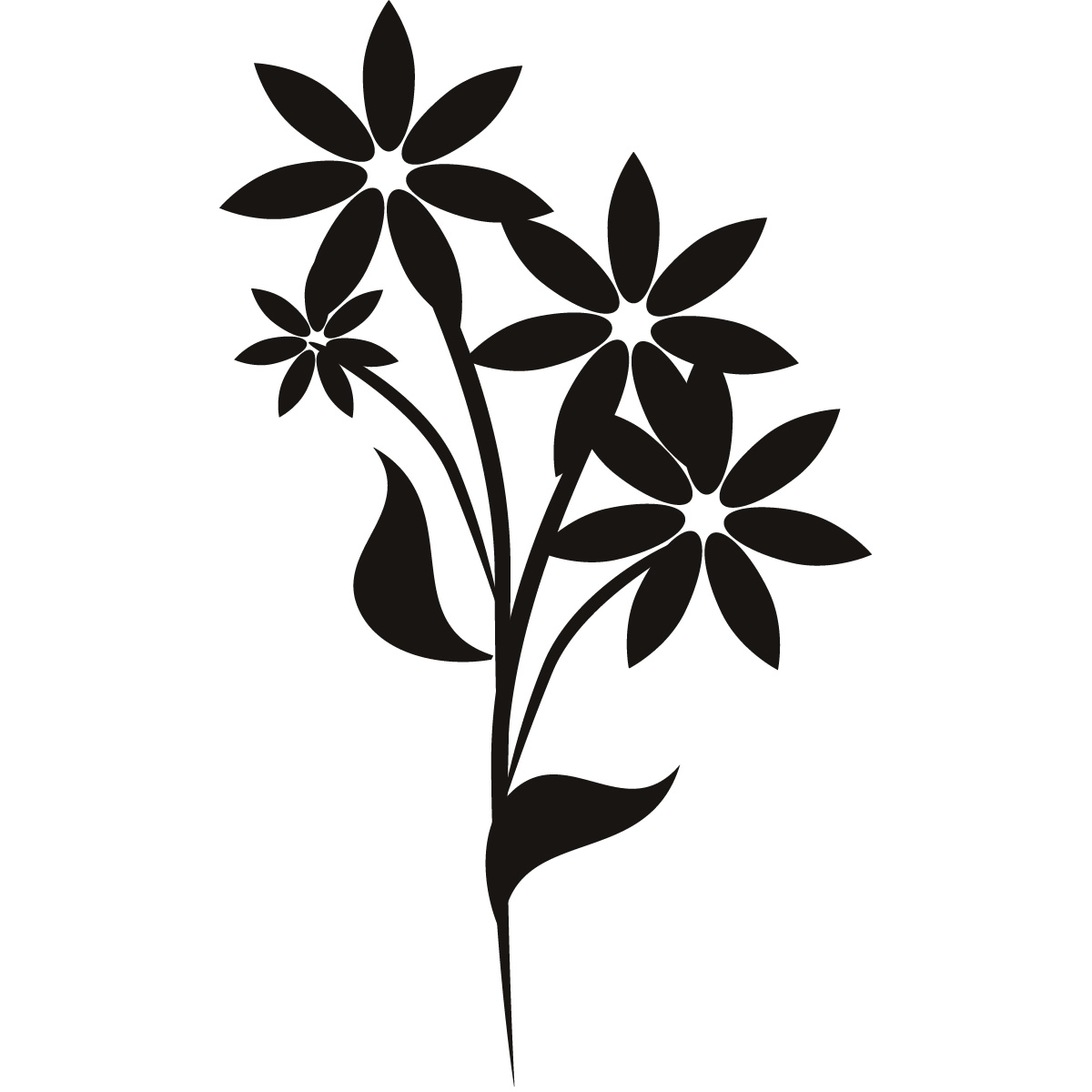 floral flower wall art decals wall stickers transfers ebay flower wall stickers floral wall decor