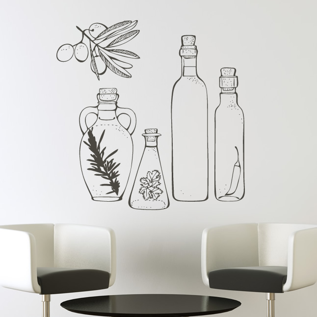 Wall Art Stickers For The Kitchen : Wall decal art grasscloth wallpaper