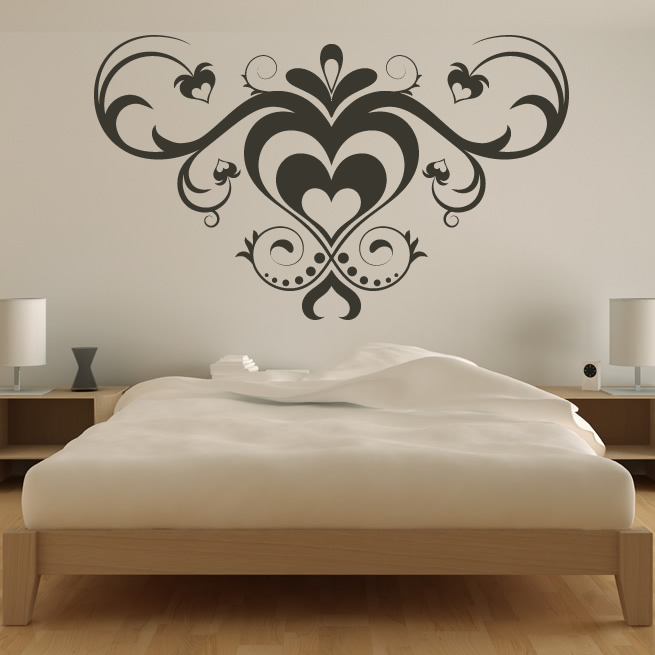 Wall Art Love Heart : Multiple love heart pattern wall art sticker decals