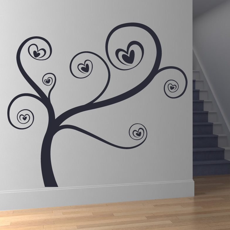Wall Art Love Heart : Sticker wall art grasscloth wallpaper